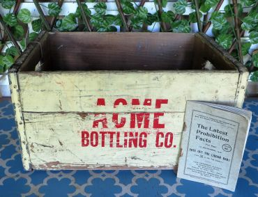 vintage acme bottle crate
