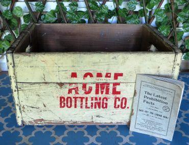 vintage acme bottle crate