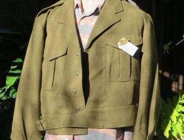 vintage australian a.i.f. military dress jacket